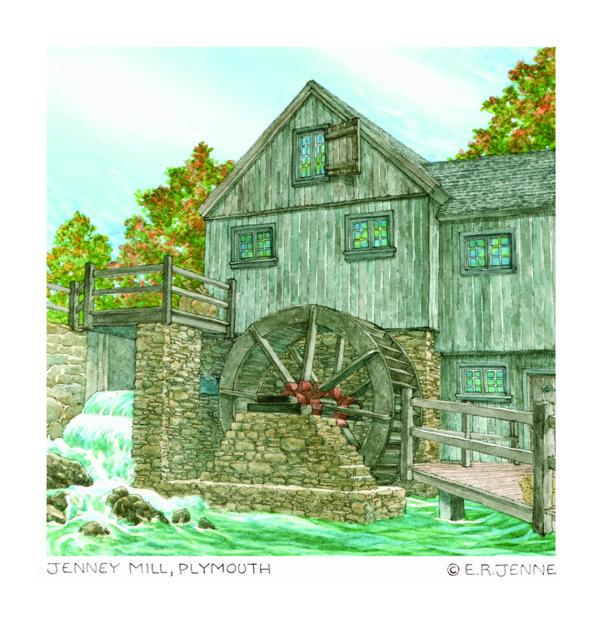 ERJ - 'Jenney Mill' print