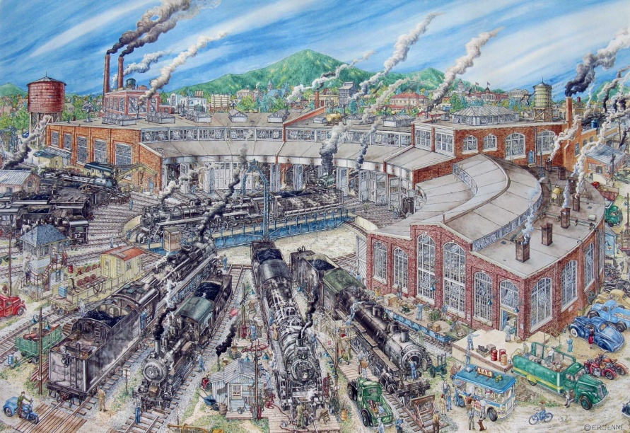 """Full size, signed and numbered """"Roundhouse' art print"""